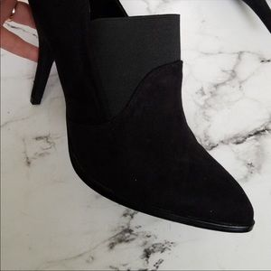 Black Faux Suede Ankle Booties